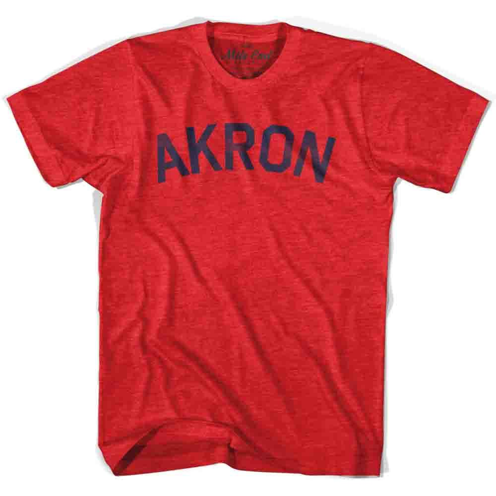 Akron City Vintage T-shirt in Heather Red by Mile End Sportswear