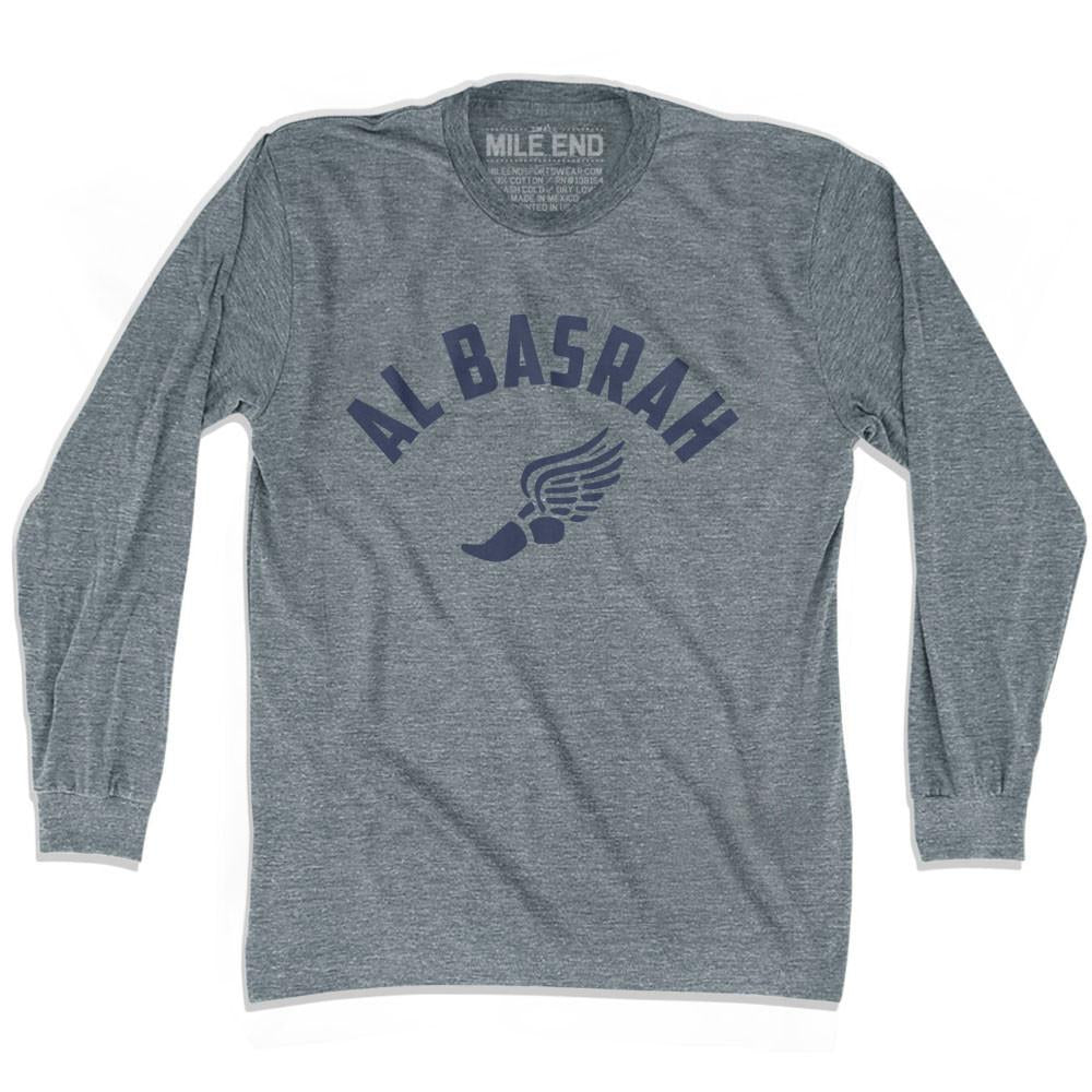 Al Basrah Track long sleeve T-shirt in Athletic Grey by Mile End Sportswear