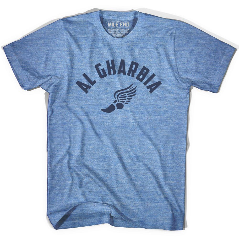 Al Gharbia Track T-shirt in Athletic Blue by Mile End Sportswear