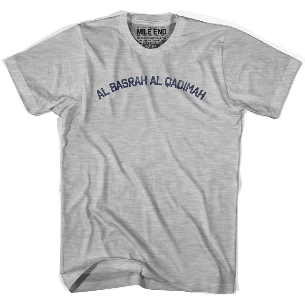 Al Basrah al Qadimah Vintage T-shirt in Grey Heather by Mile End Sportswear