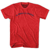 Al Basrah al Qadimah Vintage T-shirt in Heather Red by Mile End Sportswear