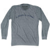 Al Mawsil al Jadidah Vintage T-shirt Long Sleeve in Athletic Grey by Mile End Sportswear