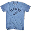 Alabama Track T-shirt in Athletic Blue by Mile End Sportswear