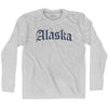 Alaska Old Town Font Long Sleeve T-shirt