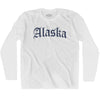 Alaska Old Town Font Long Sleeve T-shirt By Ultras