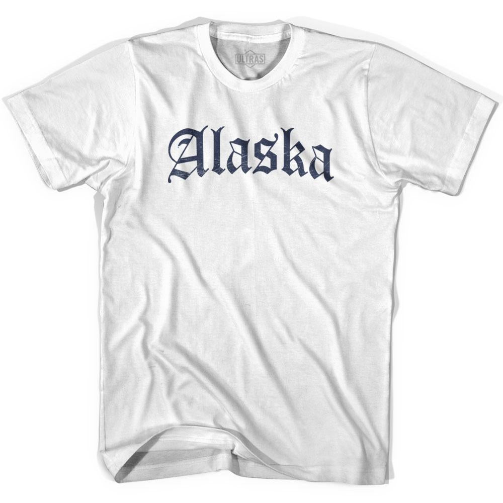 Womens Alaska Old Town Font T-shirt By Ultras