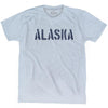 Alaska State Stencil Adult Tri-Blend T-shirt by Ultras
