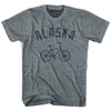 Alaska Vintage Bike T-shirt in Athletic Grey by Mile End Sportswear