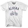 Alaska Vintage Bike T-shirt in White by Mile End Sportswear