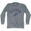 Aleppo Track long sleeve T-shirt in Athletic Grey by Mile End Sportswear