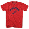 Alexandria Track T-shirt in Heather Red by Mile End Sportswear