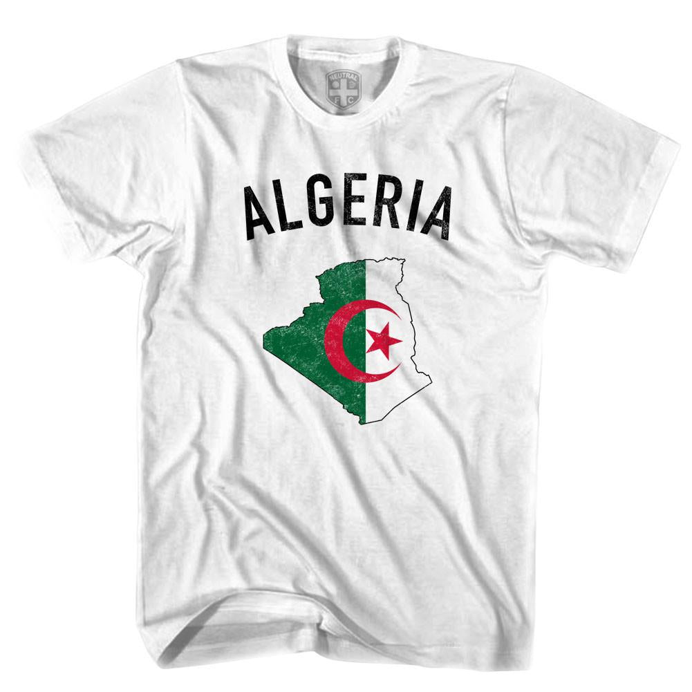 Algeria Flag & Country T-shirt in White by Neutral FC