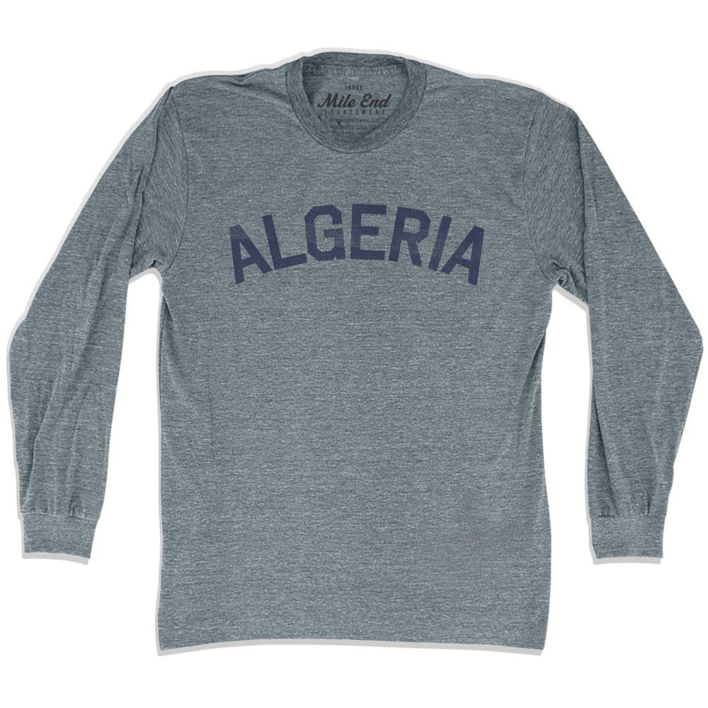 Algeria City Vintage Long Sleeve T-shirt in Athletic Grey by Mile End Sportswear