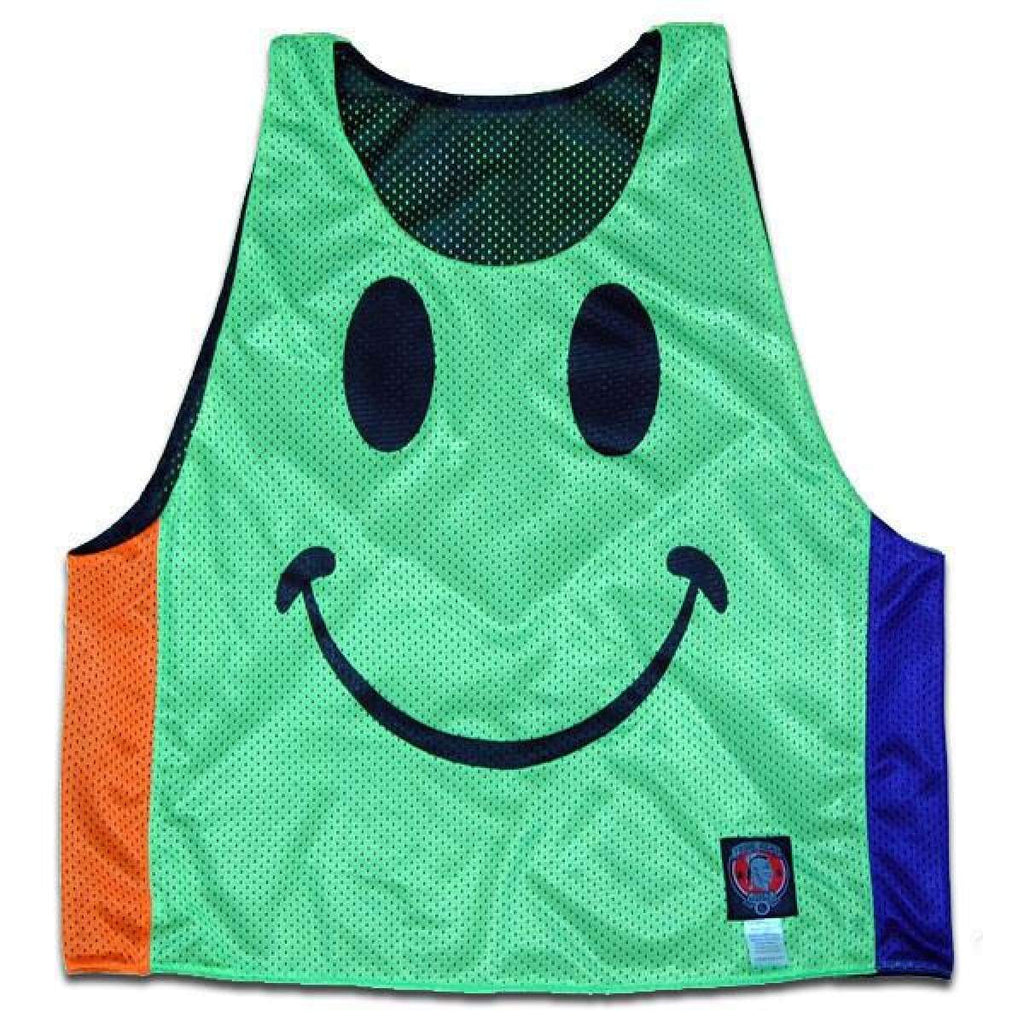 All Smiles Glow Lacrosse Pinnie - Graphic Mesh Lacrosse Pinnies