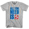 All You Need Is Soccer T-shirt in Cool Grey by Neutral FC