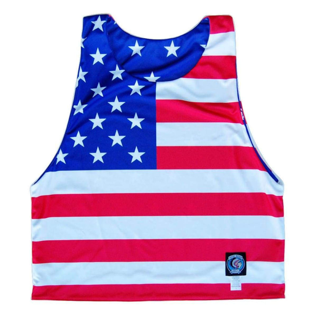 American Flag Sublimated Reversible Dye-Sub Pinnie - Graphic Lacrosse Pinnies