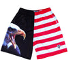 American Eagle Lacrosse Shorts in Red, White, Black by Tribe Lacrosse