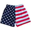 American Flag Jacks Athletic Shorts in Red White and Blue by Mile End Sportswear