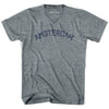 Amsterdam City Vintage V-neck T-shirt in Athletic Grey by Mile End Sportswear