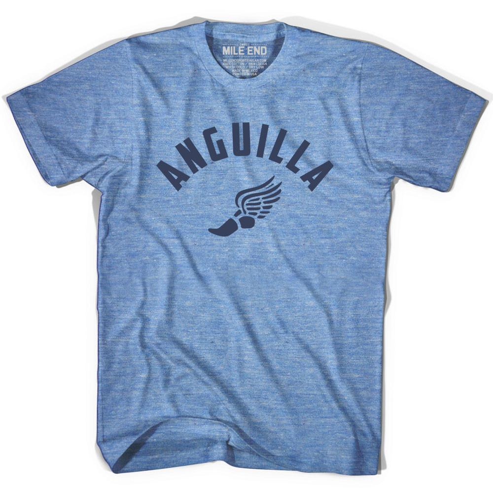 Anguilla Track T-shirt in Athletic Blue by Mile End Sportswear