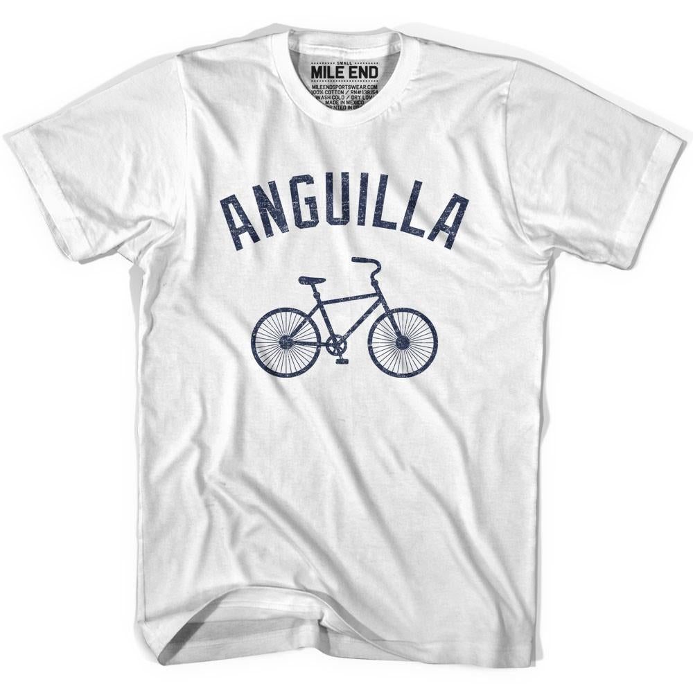 Anguilla Vintage Bike T-shirt in White by Mile End Sportswear