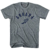 Ankara Track T-shirt in Athletic Grey by Mile End Sportswear