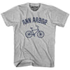 Ann Arbor Vintage Bike T-shirt in White by Mile End Sportswear
