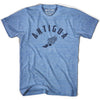 Antigua Track T-shirt in Athletic Blue by Mile End Sportswear