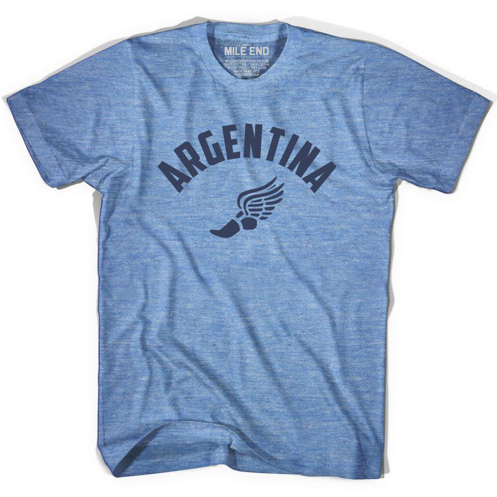 Argentina Track T-shirt in Athletic Blue by Mile End Sportswear