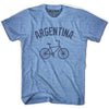 Argentina Vintage Bike T-shirt in Athletic Blue by Mile End Sportswear