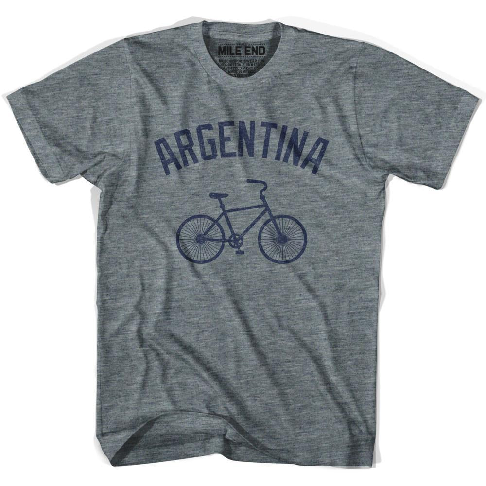 Argentina Vintage Bike T-shirt in Athletic Grey by Mile End Sportswear
