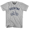Argentina Vintage Bike T-shirt in White by Mile End Sportswear