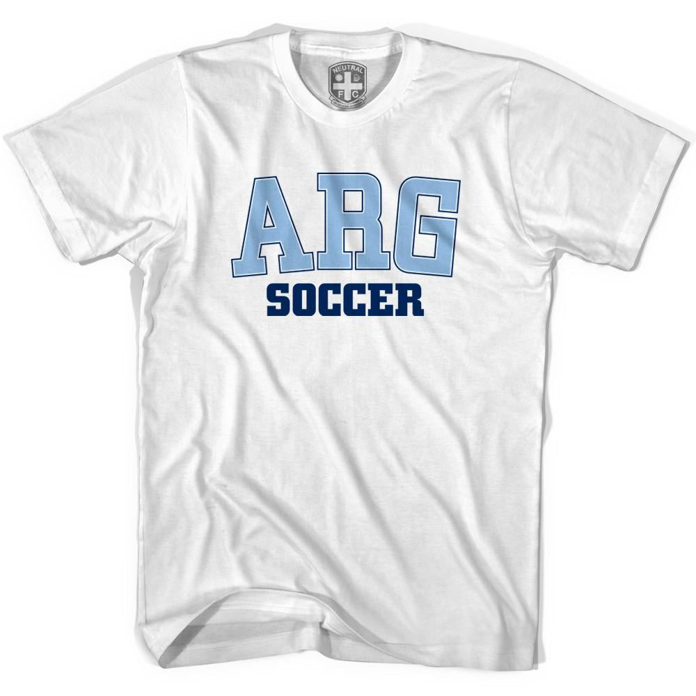 Argentina ARG Soccer T-shirt in White by Neutral FC