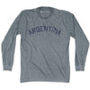 Argentina City Vintage Long Sleeve T-shirt in Athletic Grey by Mile End Sportswear