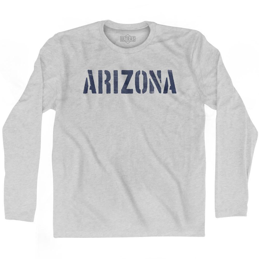 Arizona State Stencil Adult Cotton Long Sleeve T-shirt by Ultras