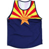 Arizona Flag Sport Tank in Navy by Tribe Lacrosse