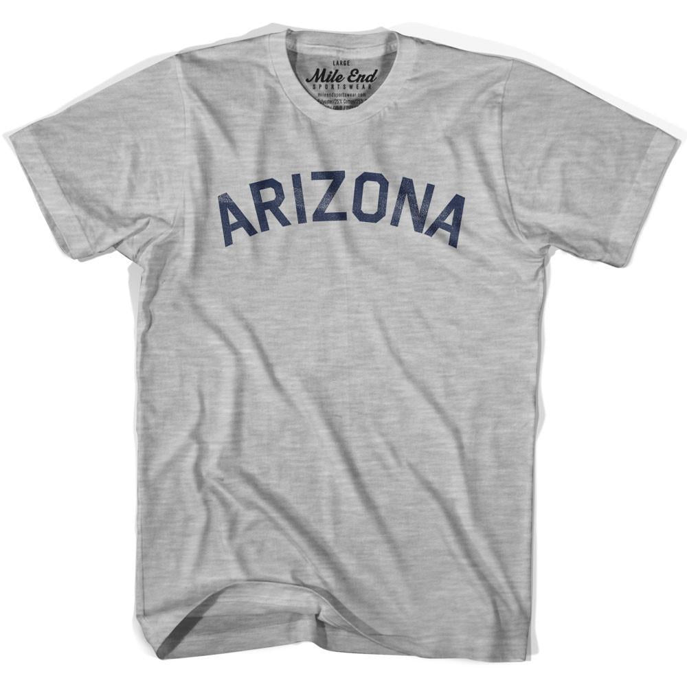 Arizona Union Vintage T-shirt in Grey Heather by Mile End Sportswear