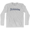 Arkansas Old Town Font Long Sleeve T-shirt