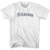Womens Arkansas Old Town Font T-shirt By Ultras