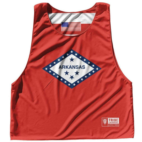 Tribe Head Lacrosse American Flag /& Camo Athletic Cut Sublimated Reversible Pinnie