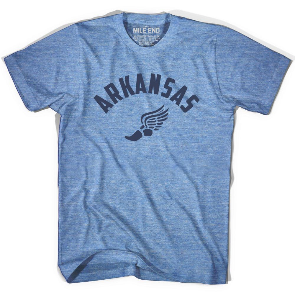 Arkansas Track T-shirt in Athletic Blue by Mile End Sportswear