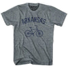 Arkansas Vintage Bike T-shirt in Athletic Grey by Mile End Sportswear