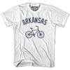 Arkansas Vintage Bike T-shirt in White by Mile End Sportswear