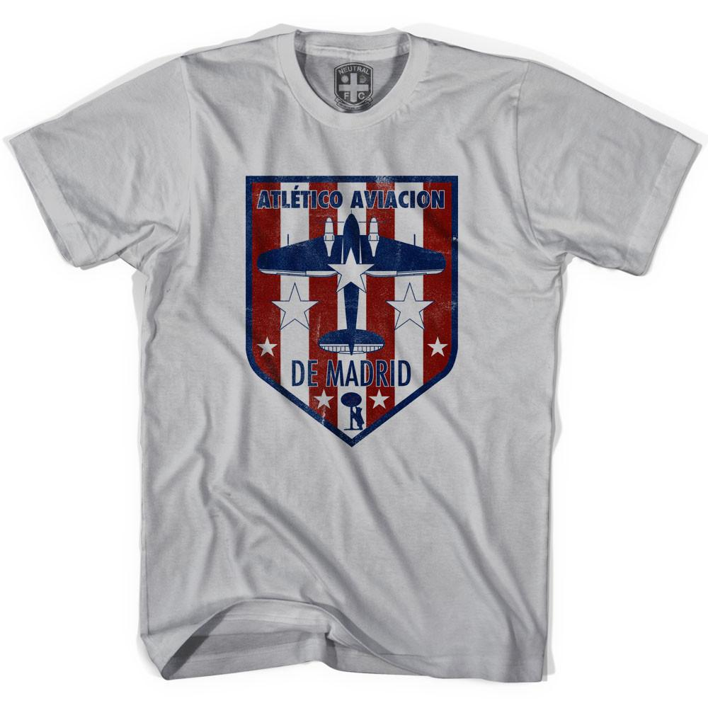 Atletico Madrid Crest T-shirt in Cool Grey by Neutral FC