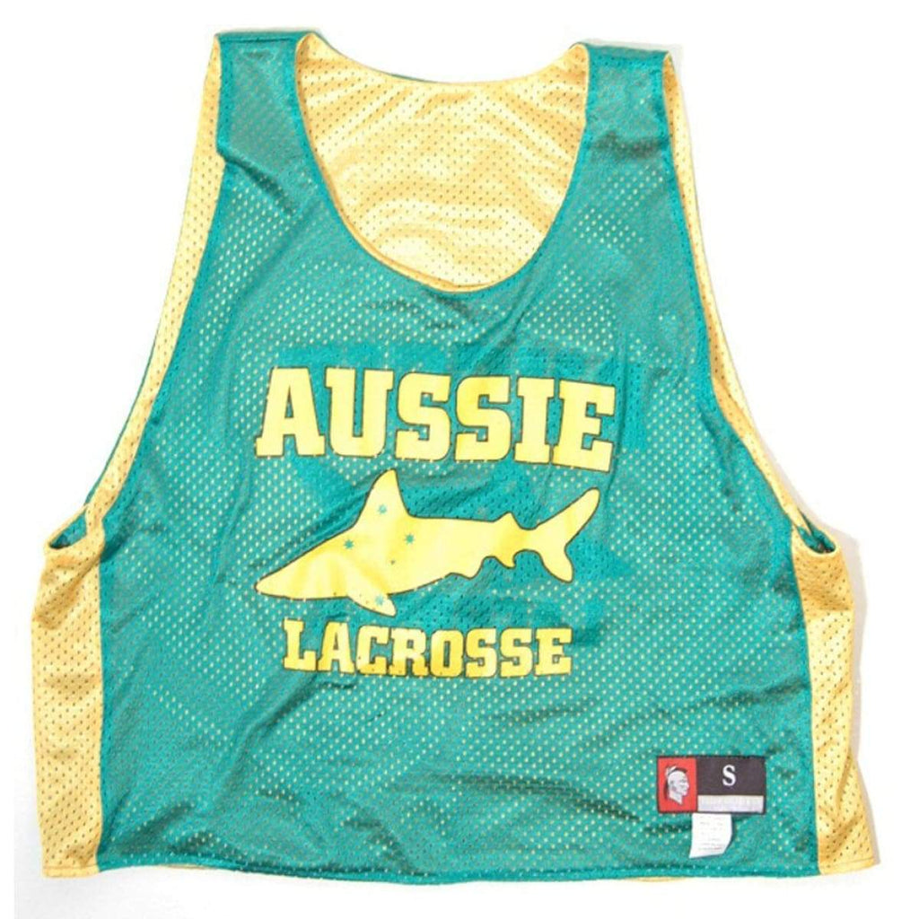 Australia Aussie Shark Lacrosse Pinnie - Graphic Mesh Lacrosse Pinnies