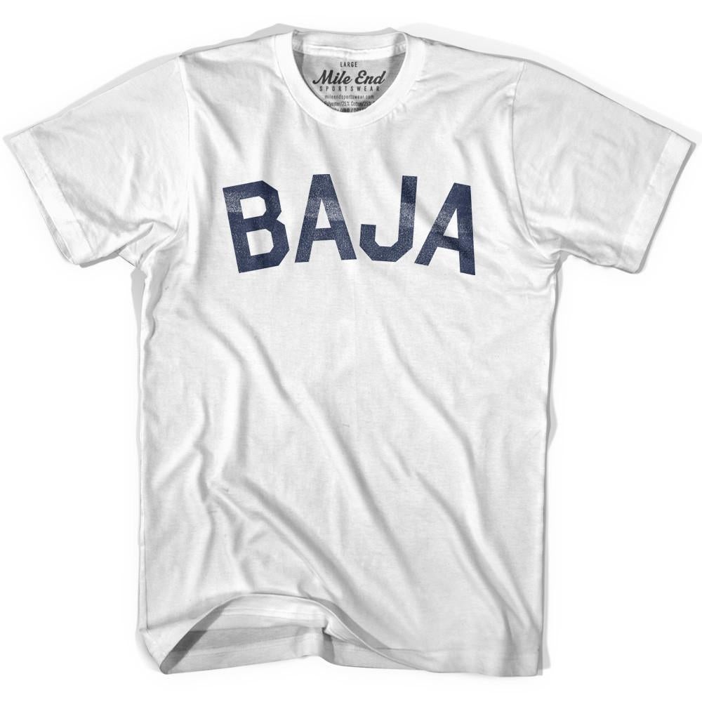 Baja City Vintage T-shirt in White by Mile End Sportswear