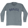 Banjul City Vintage Long Sleeve T-shirt in Athletic Grey by Mile End Sportswear