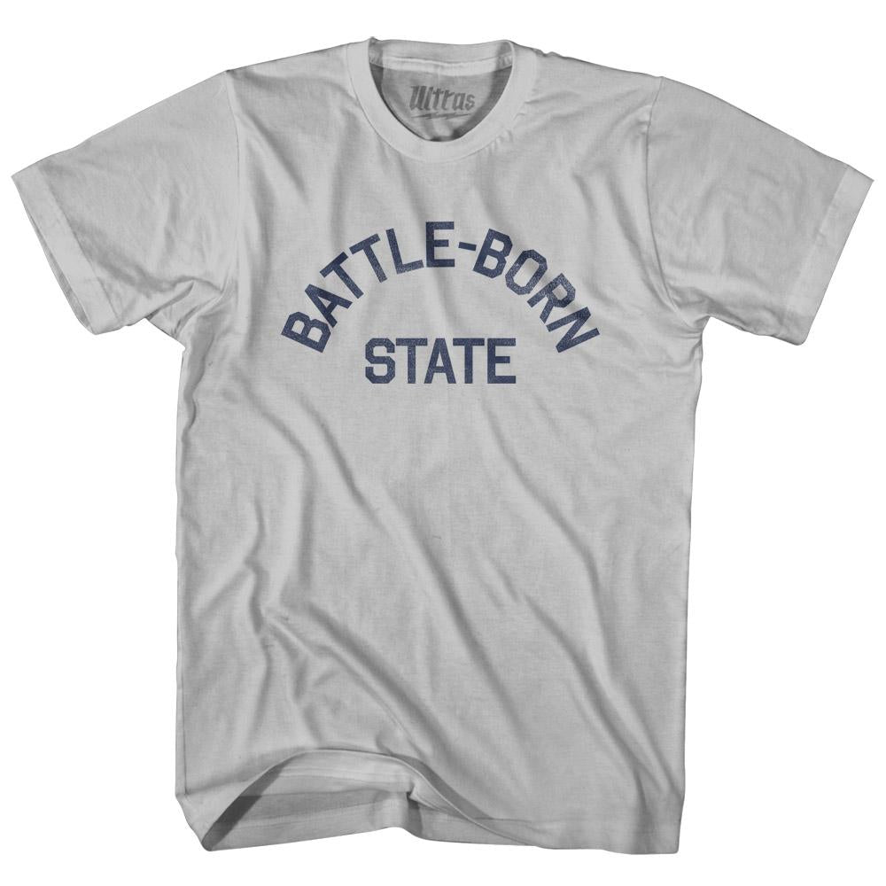 Nevada Battle-Born State Nickname Adult Cotton T-shirt by Ultras