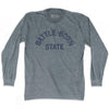Nevada Battle-Born State Nickname Adult Tri-Blend Long Sleeve T-shirt by Ultras