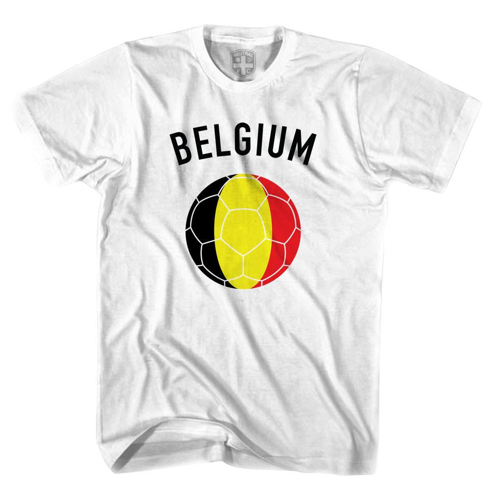 Belgium Soccer Ball T-shirt in White by Neutral FC